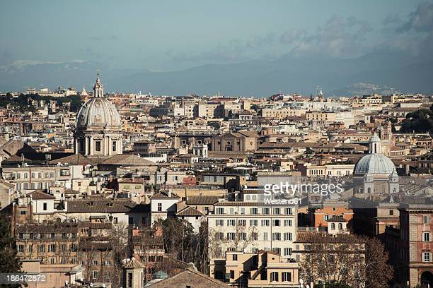 italy, rome, view to city of janiculum - hauptstadt stock-fotos und bilder