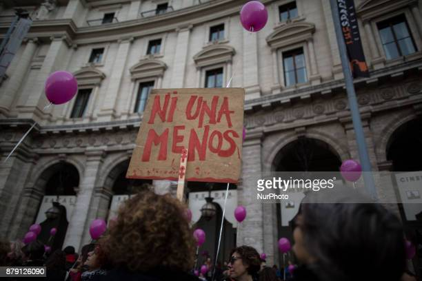 Women take part in a march in the wake of the International Day for the Elimination of Violence against Women in Rome Saturday Nov 25 2017