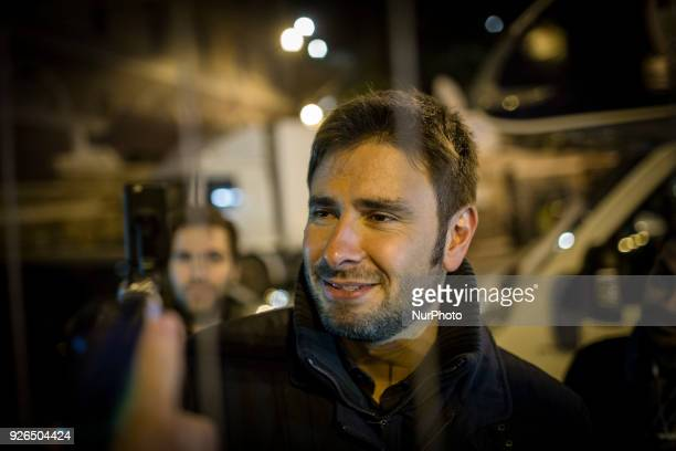 Alessandro Di Battista attends the final rally of FiveStar Movement party in Rome Friday March 2 2018 General elections in Italy will be held Sunday