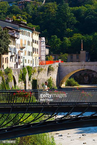 italy, rovereto, view of the leno river - leno stock pictures, royalty-free photos & images