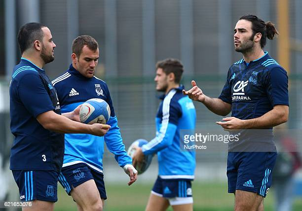 Italy rugby team training session before the test match vs New Zealand Luke McLean at Sport Center Giuglio Onesti in Rome Italy on November 7 2016