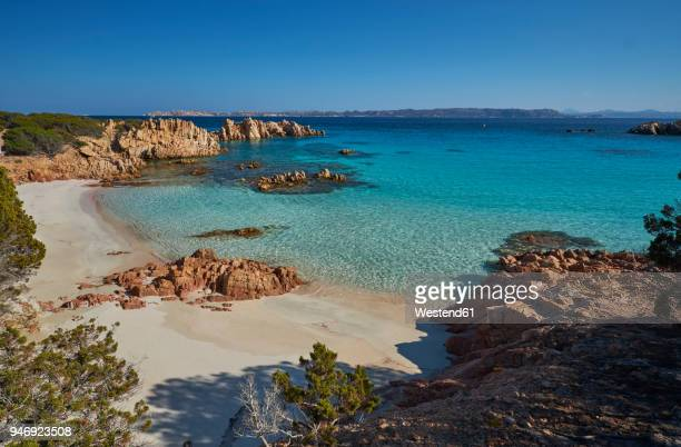 italy, sardinia, la maddalena, arcipelago di la maddalena national park, spiaggia budelli - nature reserve stock pictures, royalty-free photos & images