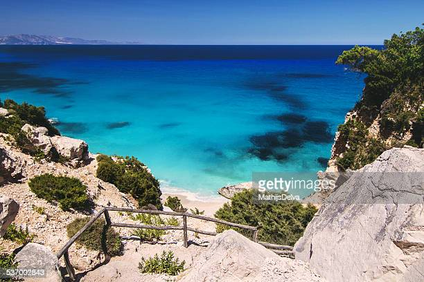 Italy, Sardinia, Rocky coast and calm sea
