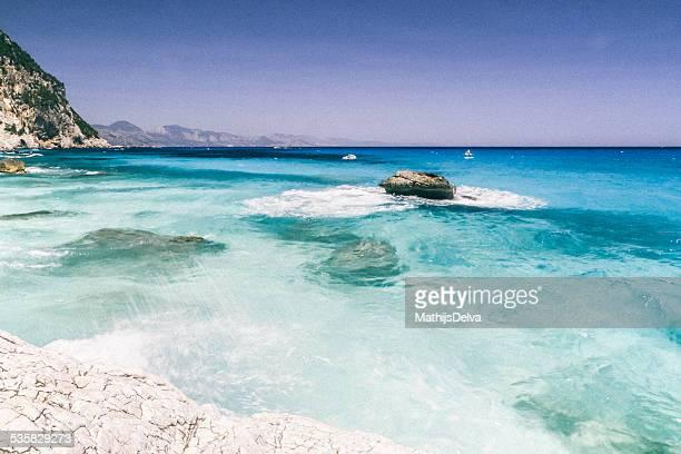 Italy, Sardinia, Sea of Sardinia, Seascape with transparent shallow water