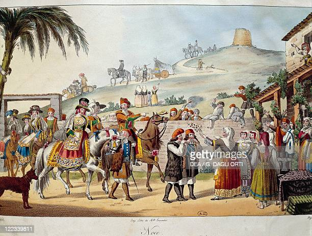 Italy Sardinia The arrival of a young woman from Sinnai married to a rich farmer from Quartu near Cagliari