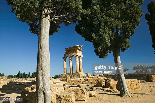 Italy, Sicily, Agrigento, Temple of Castor and Pollux