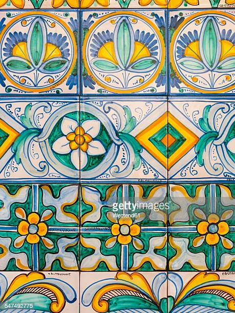 italy, sicily, caltagirone, majolica at the staircase santa maria del monte - sicily stock pictures, royalty-free photos & images