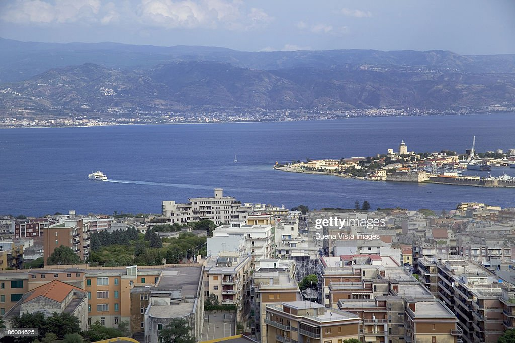 Italy Sicily Messina Strait Of Messina High-Res Stock ...