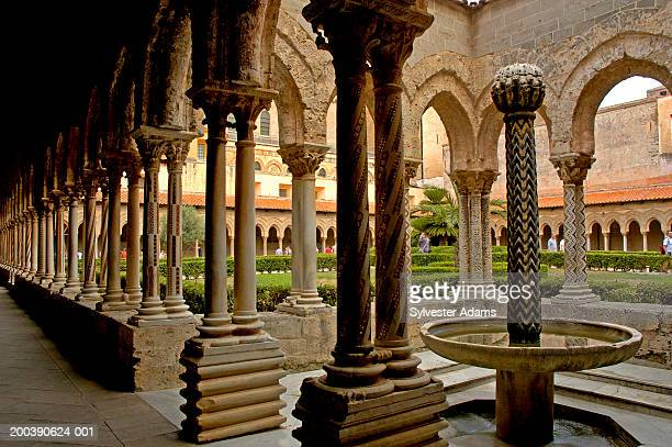 Italy, Sicily, Monreale, Arabo-Norman Cathedral, Benedictine cloister