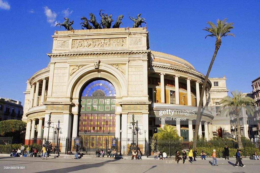 Italy, Sicily, Palermo, Theatre Politeama Garibaldi : Stock Photo