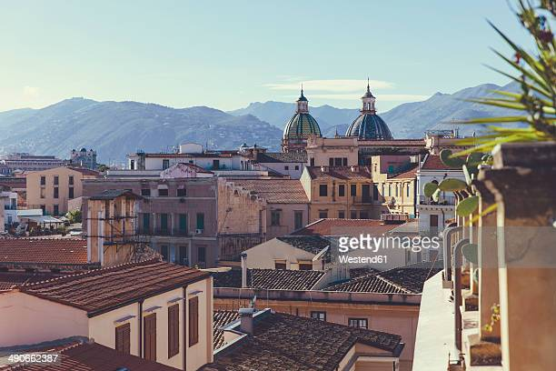 Italy, Sicily, Palermo, View over the roofs of Palermo
