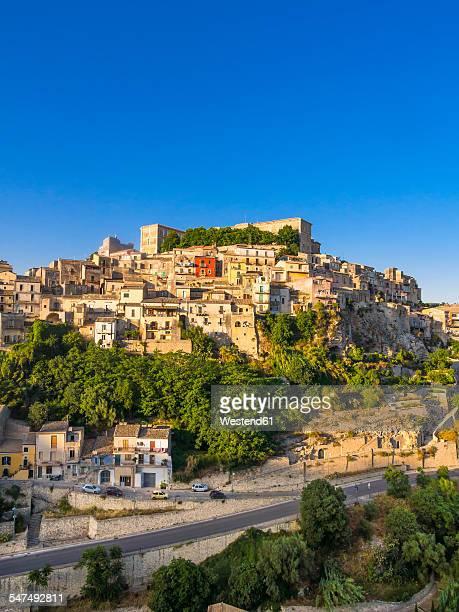 Italy, Sicily, Province of Ragusa, Ragusa, View to Ragusa Ibla, Val di Noto