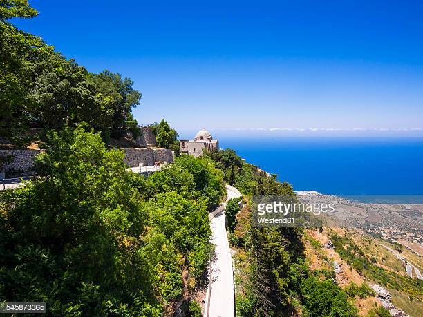 Italy, Sicily, Province of Trapani, Erice, View to Chiesa de San Giovanni