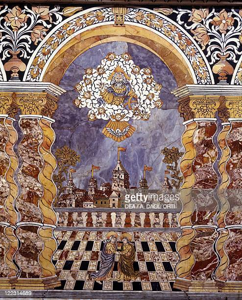 Italy Sicily region Palermo province Monreale Cathedral Baroque Chapel of the Crucifix by Angelo Italia after a drawing by Fra' Giovanni da Monreale...