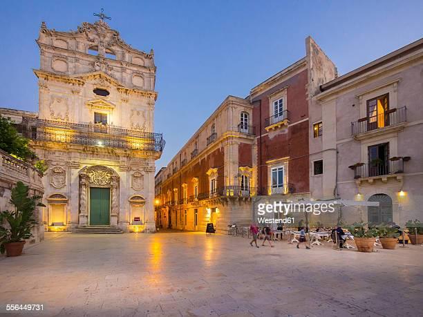 Italy, Sicily, Siracuse, Santa Lucia alla Badia church on cathedral square