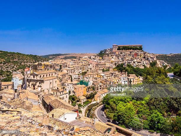 Italy, Sicily, Val di Noto, view over Ragusa Ibla