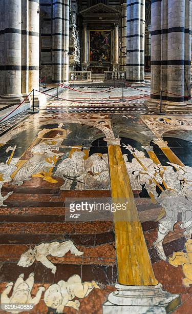 Italy Siena Inlays Of Colored Marbles Of The Duomo's Floor