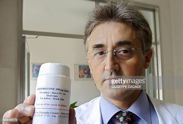 Silvio Viale gynaecologist at Sant Anna hospital poses in Turin 15 September 2005 as he began to offer RU 486 the abortion pill Italian conservatives...