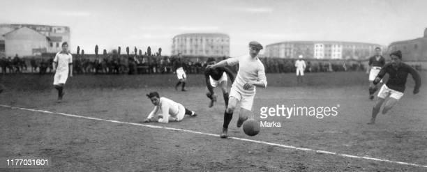 Italy. Soccer. Turin-milan. 1914.
