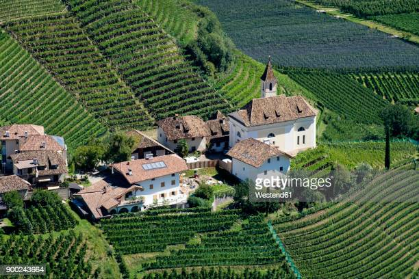 italy, south tyrol, eppan, view on missian - eppan stock photos and pictures