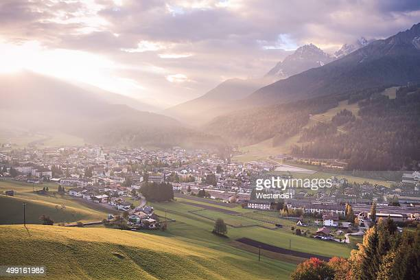 Italy, South Tyrol, Puster Valley, Innichen in the morning