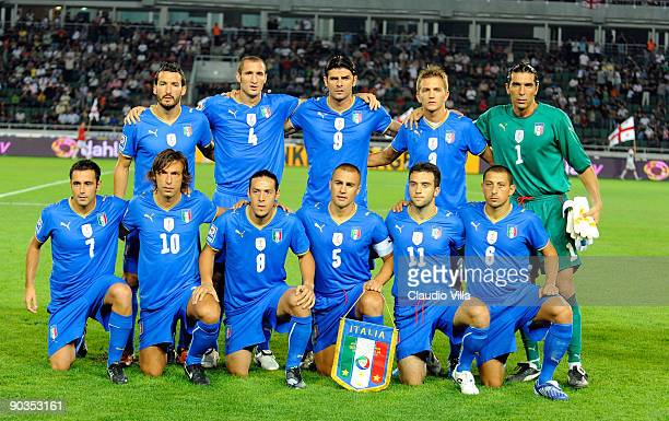 Italy Team during the FIFA 2010 World Cup Qualifier match between Georgia and Italy at Boris Paichadze National Stadium on September 5 2009 in...