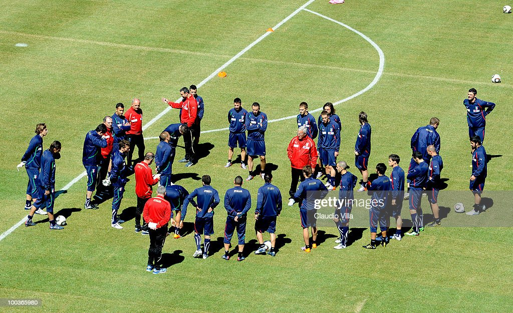 Italy Team during Training Session on May 24, 2010 in Sestriere near Turin, Italy.