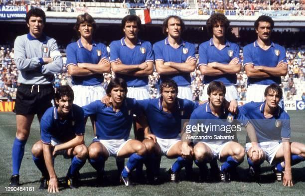 Italy team line up Dino Zoff, Giancarlo Antognoni,Gaetano Scirea, Francesco Graziani, Fulvio Collovati, Claudio Gentile Paolo Rossi, Bruno Conti,...
