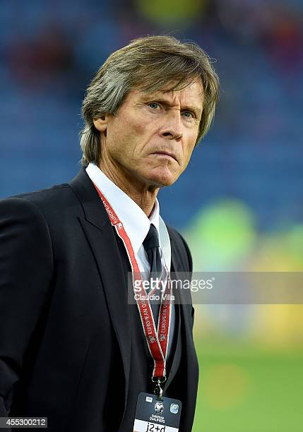 Italy Team Manager Gabriele Oriali prior to the UEFA EURO 2016 qualifier between Norway and Italy at Ullevaal Stadion on September 9 2014 in Oslo...