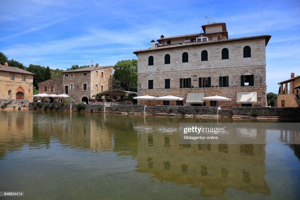 Italy. Terme Bagno Vignoni Near San Quirico D\'orcia In The Province ...