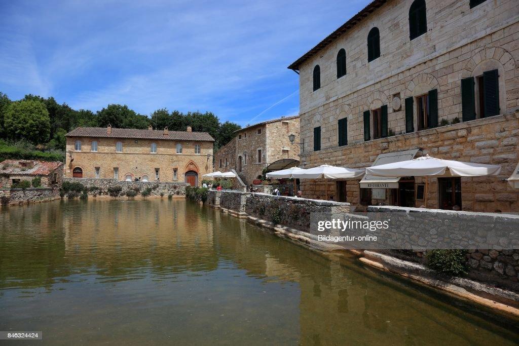 Italy. Terme Bagno Vignoni Near San Quirico D\'orcia In The ...