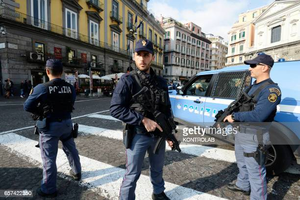 Italy the special force police anti terrorism in Naples