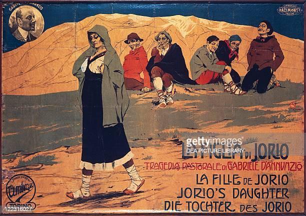 Italy Theatre 20th century Poster for La figlia di Iorio pastoral tragedy by Gabriele D'Annunzio performed at the Teatro Lirico in Milan in 1904