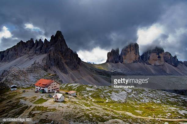Italy, Trentino Alto Adige, Sesto, Dolomites, Tre Cime di Lavaredo, Rifugio Locatelli