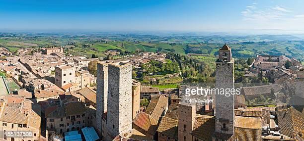 Italy Tuscany ancient towers of San Gimignano panorama