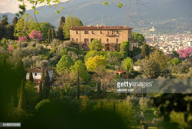 Italy Tuscany Firenze View at a villa