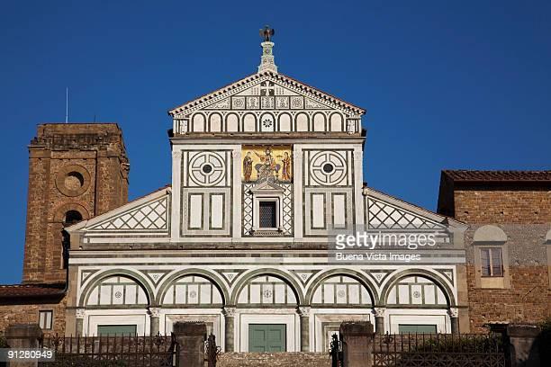 italy. tuscany. florence. chiesa di san miniato al monte - san miniato stock pictures, royalty-free photos & images
