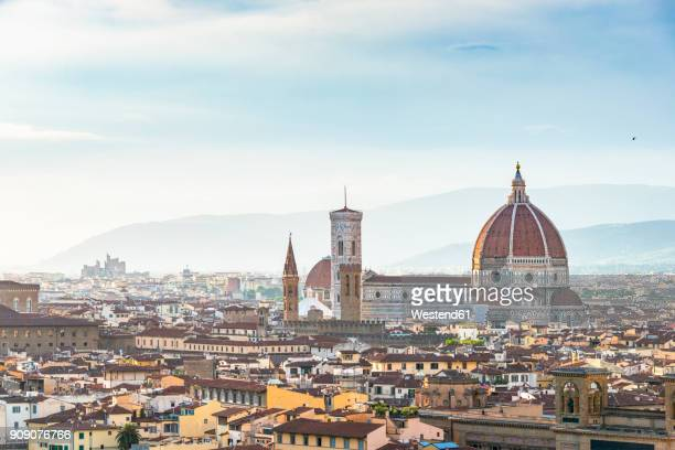 Italy, Tuscany, Florence, Old town, Santa Maria del Fiore and Badia Fiorentina