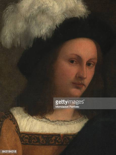 Italy Tuscany Florence Palazzo Pitti Palatine Gallery Detail Young man with hat