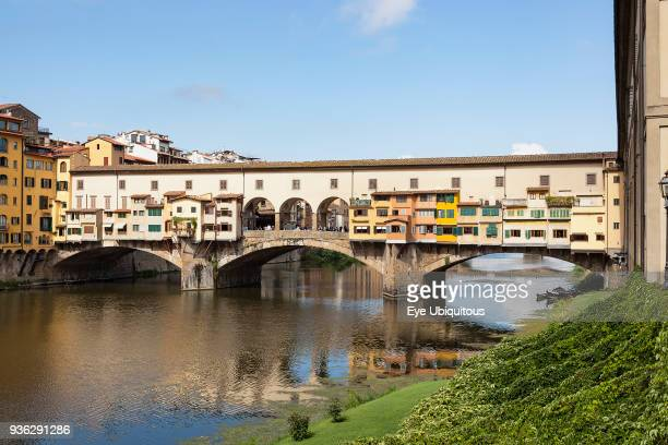 Italy Tuscany Florence Ponte Vecchio and the River Arno