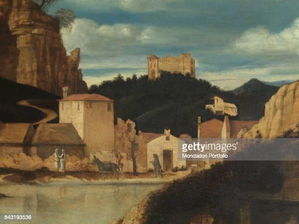 Italy Tuscany Florence Uffizi Gallery Detail Background landscape