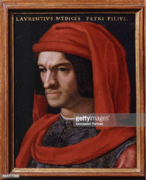 Italy Tuscany Florence Uffizi Gallery Whole artwork Portrait of Lorenzo the Magnificent