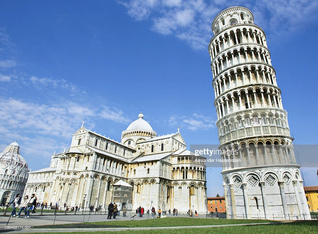 Italy, Tuscany, Leaning Tower of Pisa, Cathedral Santa Maria Assunta : Stock-Foto
