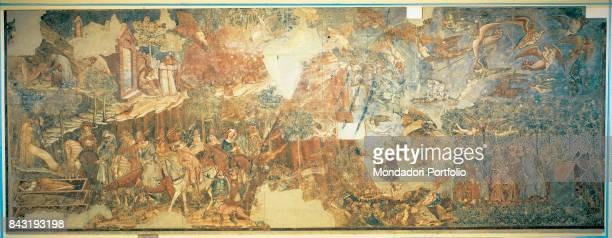 Italy, Tuscany, Pisa, Camposanto Monumentale. Whole artwork view. The Triumph of Death, a classic subject here in an iconography based on the...