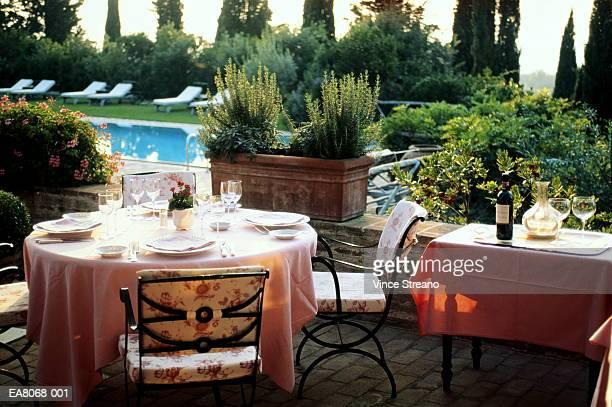 Italy, Tuscany, San Felice, hotal terrace
