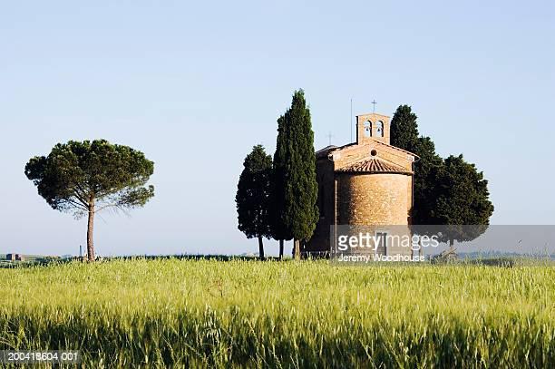Italy, Tuscany, San Quirico d'Orcia, Capella di Vitaleta