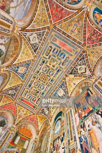 Italy Tuscany Siena Siena Cathedral The Piccolomini Library