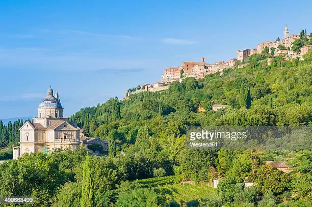 Italy, Tuscany, Val d'Orcia, Montepuliciano, Madonna di San Biagio