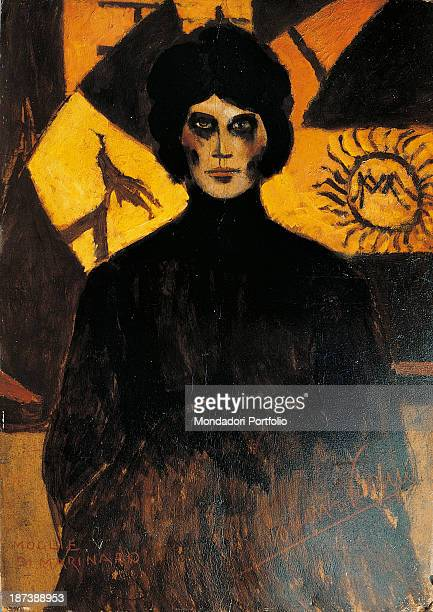 Italy Tuscany Viareggio Private collection Portrait of a woman in tones of black and yellow