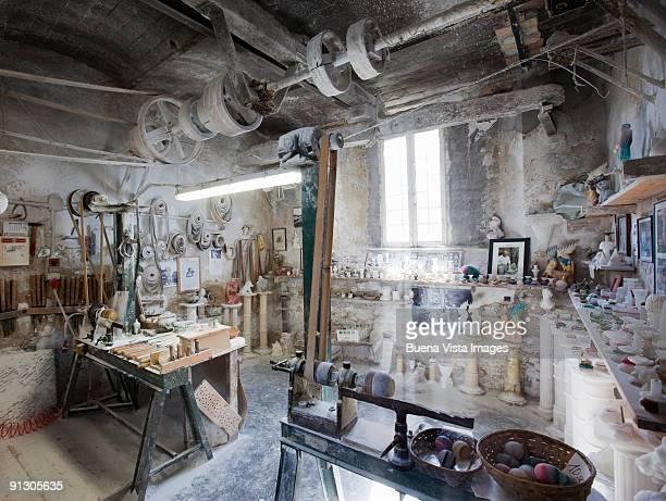 Italy. Tuscany. Volterra. Alabaster Laboratory